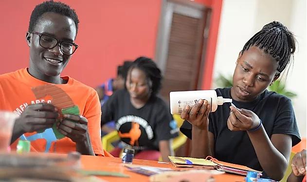MasterCard Foundation scholars build toys for Kaya ChildCare